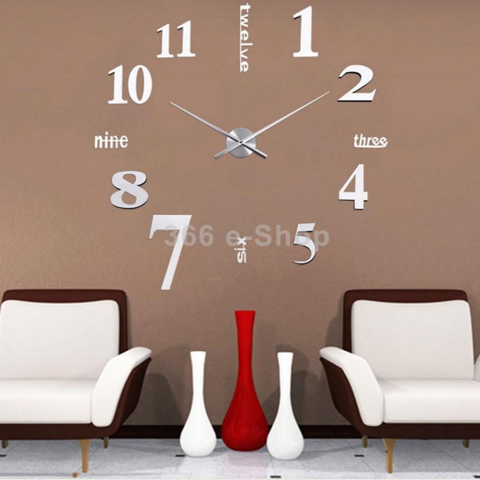 Orologio da parete adesivo per una casa moderna orologi for Idee per orologio da parete
