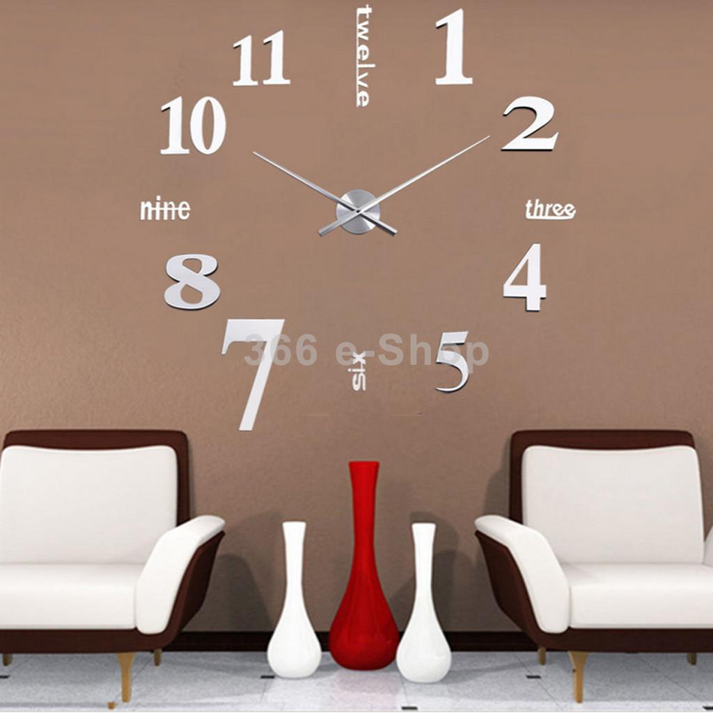 Orologio da parete adesivo componibile - Orologio design parete ...
